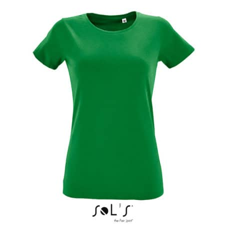 Women`s Round Neck Fitted T-Shirt Regent in Kelly Green von SOL´S (Artnum: L02758