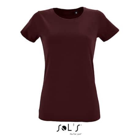 Women`s Round Neck Fitted T-Shirt Regent in Oxblood von SOL´S (Artnum: L02758