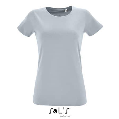Women`s Round Neck Fitted T-Shirt Regent in Pure Grey von SOL´S (Artnum: L02758