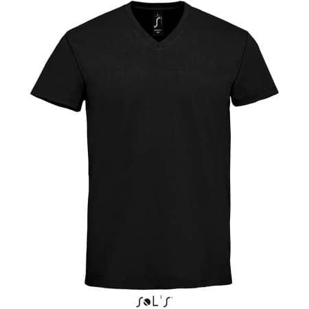 Imperial V-Neck Men T-Shirt in Deep Black von SOL´S (Artnum: L02940
