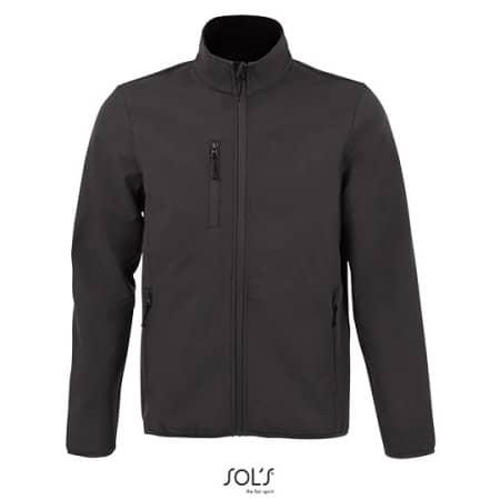 Men´s Softshell Jacket Radian in Charcoal Grey (Solid) von SOL´S (Artnum: L03090