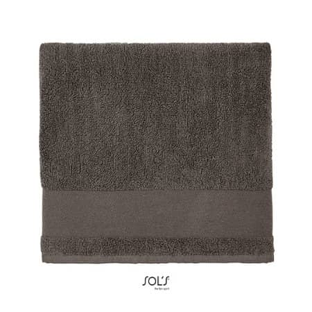 Hand Towel Peninsula 50 in Dark Grey (Solid) von SOL´S (Artnum: L03095