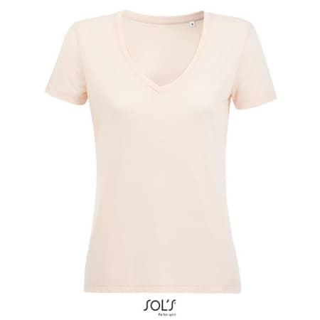 Women´s Flowy V-Neck T-Shirt Motion von SOL´S (Artnum: L03098