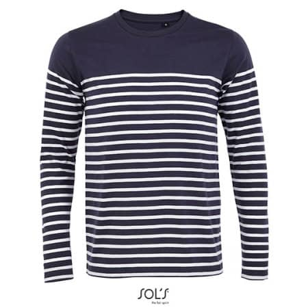 Men´s Long Sleeve Striped T-Shirt Matelot von SOL´S (Artnum: L03099