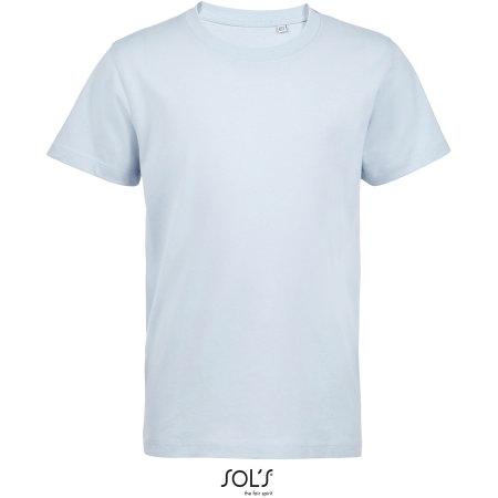Kids´ Round Neck T-Shirt Martin in Creamy Blue von SOL´S (Artnum: L03102