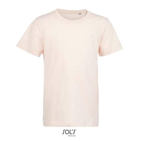 Kids´ Round Neck T-Shirt Martin in Creamy Pink von SOL´S (Artnum: L03102