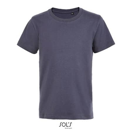 Kids´ Round Neck T-Shirt Martin in Mouse Grey (Solid) von SOL´S (Artnum: L03102