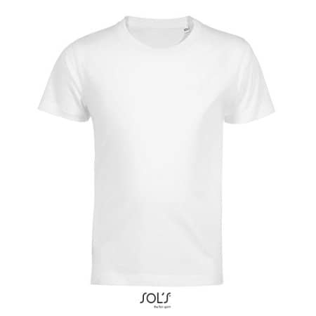Kids´ Round Neck T-Shirt Martin in White von SOL´S (Artnum: L03102
