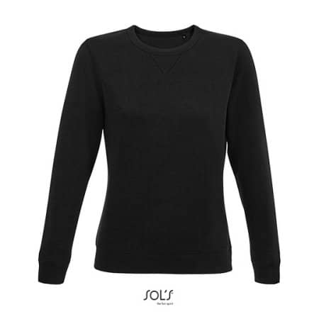 Women´s Round Neck Sweatshirt Sully in Black von SOL´S (Artnum: L03104