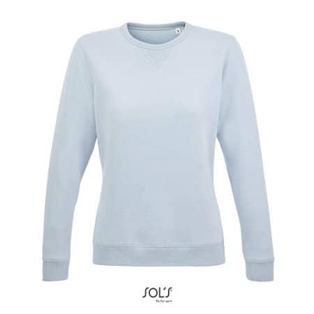 Women´s Round Neck Sweatshirt Sully in Creamy Blue von SOL´S (Artnum: L03104
