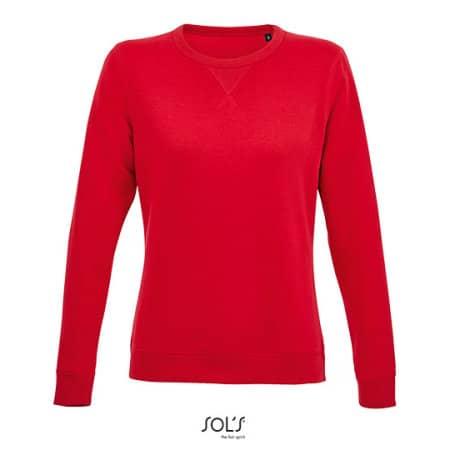 Women´s Round Neck Sweatshirt Sully in Red von SOL´S (Artnum: L03104