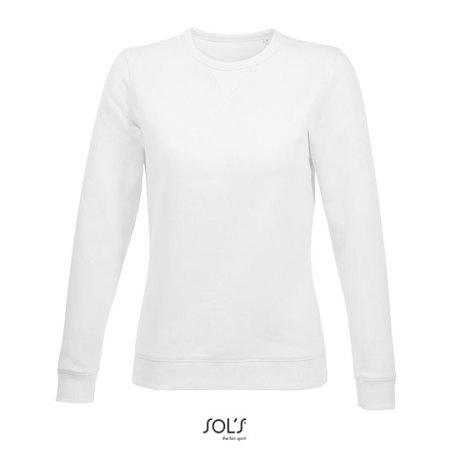 Women´s Round Neck Sweatshirt Sully in White von SOL´S (Artnum: L03104