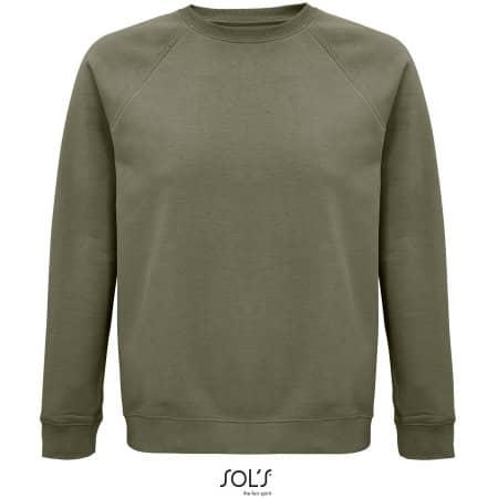 Space Unisex Sweatshirt in Khaki von SOL´S (Artnum: L03567