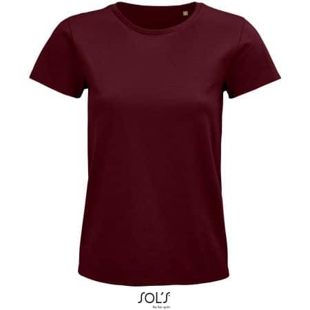 Pioneer Women T-Shirt in Burgundy von SOL´S (Artnum: L03579