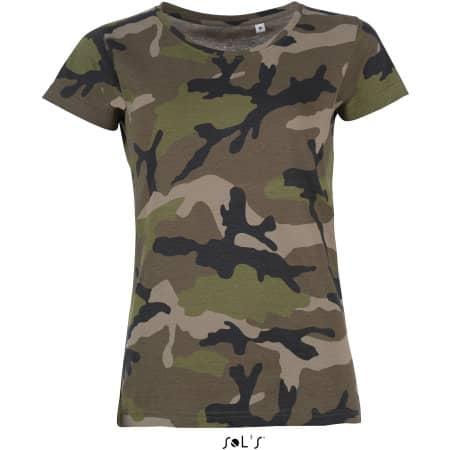 Women`s Camo T-Shirt von SOL´S (Artnum: L134