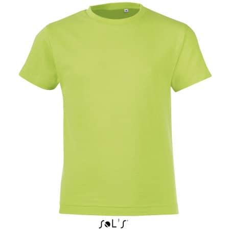 Kids` Round Collar T-Shirt Regent Fit in Apple Green von SOL´S (Artnum: L149K