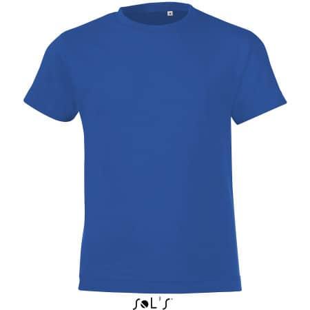 Kids` Round Collar T-Shirt Regent Fit in Royal Blue von SOL´S (Artnum: L149K