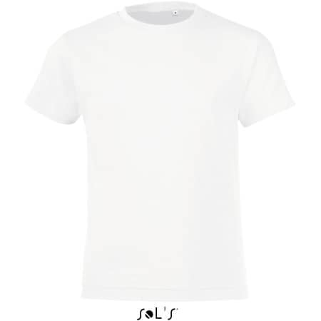 Kids` Round Collar T-Shirt Regent Fit in White von SOL´S (Artnum: L149K