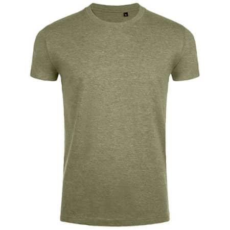 Imperial Fit T-Shirt in Heather Khaki von SOL´S (Artnum: L189