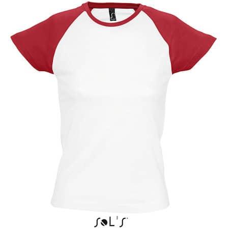 Women`s Raglan Colour-T Milky von SOL´S (Artnum: L195