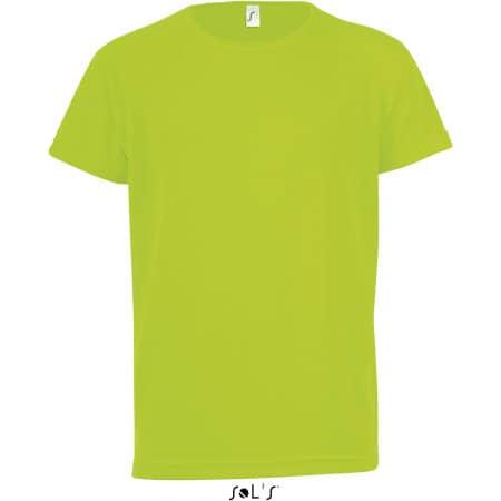 Kids` Raglan Sleeved T-Shirt Sporty von SOL´S (Artnum: L198K