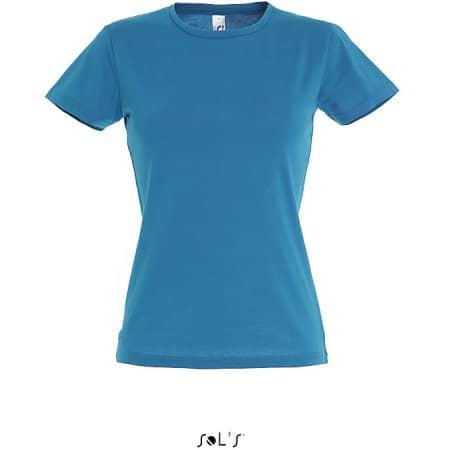 Ladies` T-Shirt Miss in Aqua von SOL´S (Artnum: L225