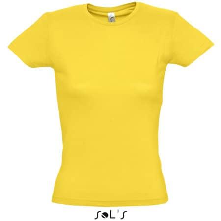 Ladies` T-Shirt Miss in Gold von SOL´S (Artnum: L225