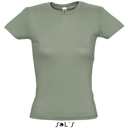 Ladies` T-Shirt Miss in Khaki von SOL´S (Artnum: L225