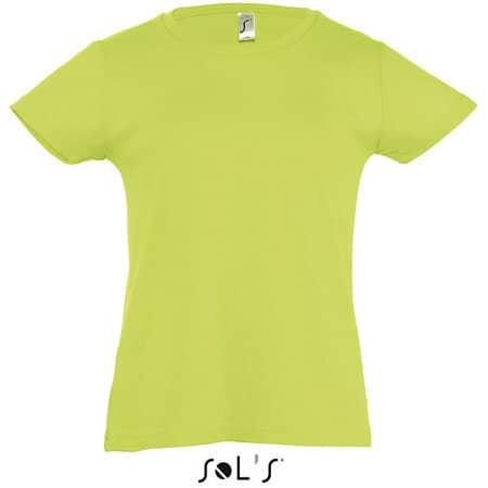 Kids` T-Shirt Girlie Cherry in Apple Green von SOL´S (Artnum: L225K