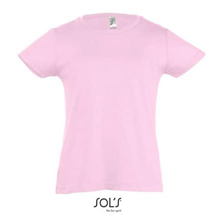 Kids` T-Shirt Girlie Cherry in Orchid Pink von SOL´S (Artnum: L225K