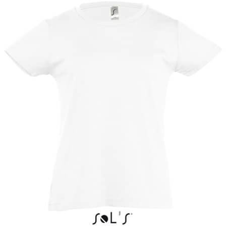 Kids` T-Shirt Girlie Cherry in White von SOL´S (Artnum: L225K