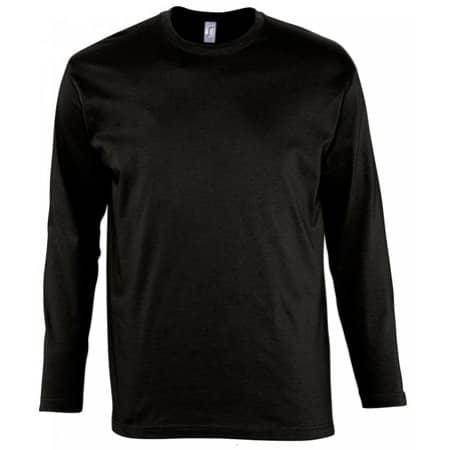 Langarm T-Shirt Monarch in Deep Black von SOL´S (Artnum: L241