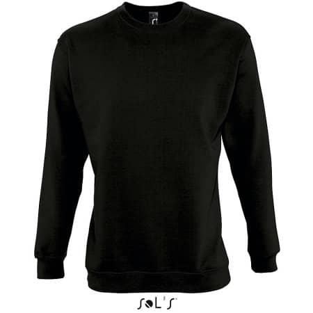 Unisex Sweatshirt Supreme in Black von SOL´S (Artnum: L327