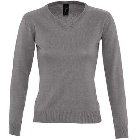 Women`s V Neck Sweater Galaxy von SOL´S (Artnum: L411