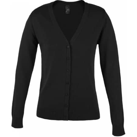 Golden Women V-Neck Knitted Cardigan in Black von SOL´S (Artnum: L419