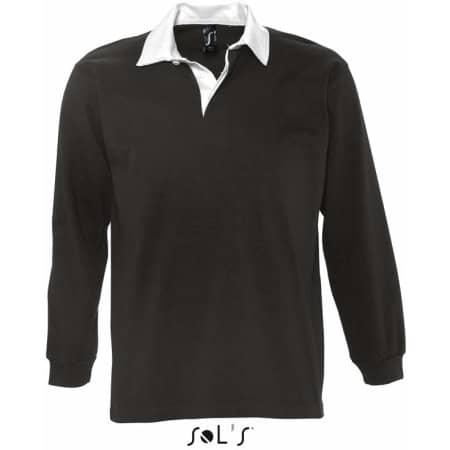 Rugbyshirt Pack in Black White von SOL´S (Artnum: L466