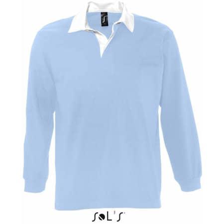 Rugbyshirt Pack in Sky Blue|White von SOL´S (Artnum: L466