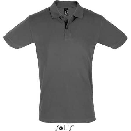 Men`s Polo Shirt Perfect in Dark Grey (Solid) von SOL´S (Artnum: L525