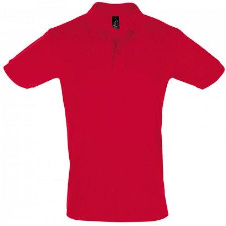 Men`s Polo Shirt Perfect in Red von SOL´S (Artnum: L525