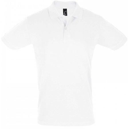 Men`s Polo Shirt Perfect in White von SOL´S (Artnum: L525