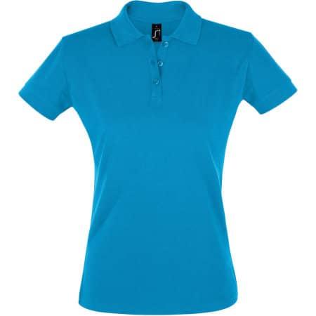 Women`s Polo Shirt Perfect in Aqua von SOL´S (Artnum: L526