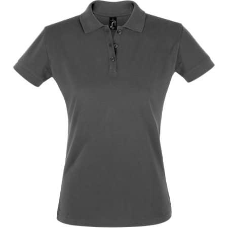 Women`s Polo Shirt Perfect in Dark Grey (Solid) von SOL´S (Artnum: L526