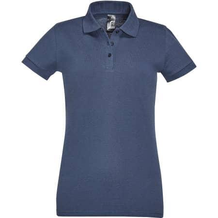 Women`s Polo Shirt Perfect in Denim von SOL´S (Artnum: L526