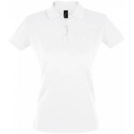 Women`s Polo Shirt Perfect in White von SOL´S (Artnum: L526