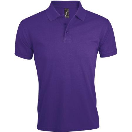 Men`s Polo Shirt Prime in Dark Purple von SOL´S (Artnum: L527