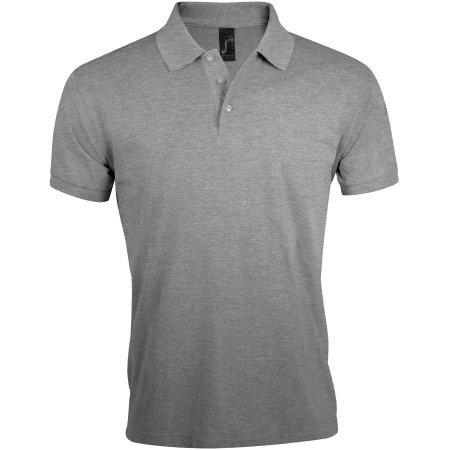 Men`s Polo Shirt Prime in Grey Melange von SOL´S (Artnum: L527