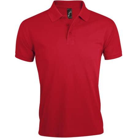 Men`s Polo Shirt Prime in Red von SOL´S (Artnum: L527
