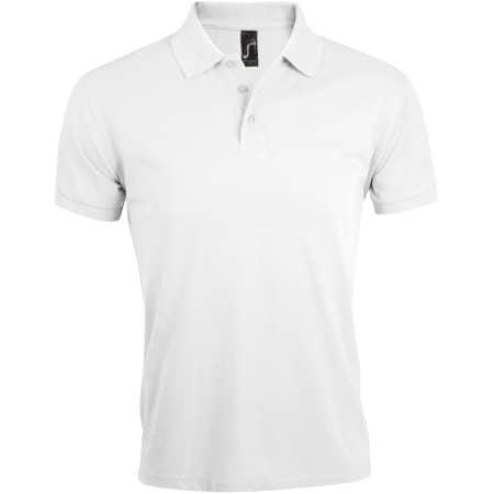 Men`s Polo Shirt Prime in White von SOL´S (Artnum: L527
