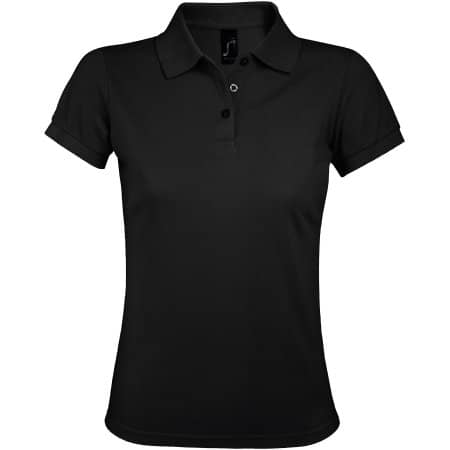 Women`s Polo Shirt Prime in Black von SOL´S (Artnum: L528