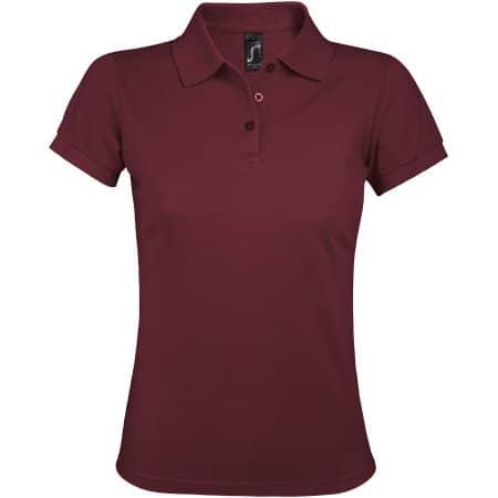 Women`s Polo Shirt Prime in Burgundy von SOL´S (Artnum: L528